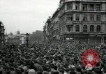 Image of Crowd listens to Churchill speech Parliament Square on V-E Day London England United Kingdom, 1945, second 1 stock footage video 65675074353