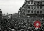 Image of Crowd listens to Churchill speech Parliament Square on V-E Day London England United Kingdom, 1945, second 2 stock footage video 65675074353
