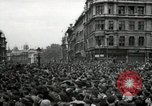 Image of Crowd listens to Churchill speech Parliament Square on V-E Day London England United Kingdom, 1945, second 3 stock footage video 65675074353