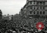 Image of Crowd listens to Churchill speech Parliament Square on V-E Day London England United Kingdom, 1945, second 4 stock footage video 65675074353