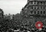 Image of Crowd listens to Churchill speech Parliament Square on V-E Day London England United Kingdom, 1945, second 5 stock footage video 65675074353