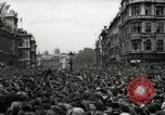 Image of Crowd listens to Churchill speech Parliament Square on V-E Day London England United Kingdom, 1945, second 6 stock footage video 65675074353
