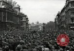 Image of Crowd listens to Churchill speech Parliament Square on V-E Day London England United Kingdom, 1945, second 7 stock footage video 65675074353