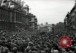Image of Crowd listens to Churchill speech Parliament Square on V-E Day London England United Kingdom, 1945, second 8 stock footage video 65675074353