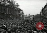 Image of Crowd listens to Churchill speech Parliament Square on V-E Day London England United Kingdom, 1945, second 9 stock footage video 65675074353