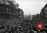 Image of Crowd listens to Churchill speech Parliament Square on V-E Day London England United Kingdom, 1945, second 10 stock footage video 65675074353
