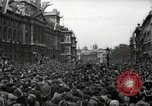Image of Crowd listens to Churchill speech Parliament Square on V-E Day London England United Kingdom, 1945, second 11 stock footage video 65675074353