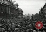 Image of Crowd listens to Churchill speech Parliament Square on V-E Day London England United Kingdom, 1945, second 12 stock footage video 65675074353