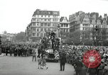 Image of English crowd celebrating V-E Day in Europe end of World War 2 London England United Kingdom, 1945, second 2 stock footage video 65675074354