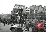 Image of English crowd celebrating V-E Day in Europe end of World War 2 London England United Kingdom, 1945, second 8 stock footage video 65675074354