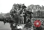 Image of English crowd celebrating V-E Day in Europe end of World War 2 London England United Kingdom, 1945, second 9 stock footage video 65675074354