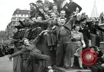 Image of English crowd celebrating V-E Day in Europe end of World War 2 London England United Kingdom, 1945, second 10 stock footage video 65675074354