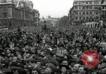 Image of Winston Churchill greets Parliament Square crowd V-E Day London England United Kingdom, 1945, second 10 stock footage video 65675074355