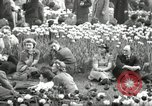Image of British crowd celebrating Victory in Europe Day London England United Kingdom, 1945, second 3 stock footage video 65675074357