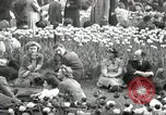 Image of British crowd celebrating Victory in Europe Day London England United Kingdom, 1945, second 4 stock footage video 65675074357
