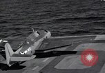 Image of F6F Hellcat fighter Pacific Ocean, 1944, second 2 stock footage video 65675074364