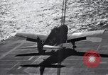 Image of F6F Hellcat fighter Pacific Ocean, 1944, second 2 stock footage video 65675074366