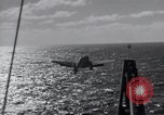 Image of F6F Hellcat fighter Pacific Ocean, 1944, second 6 stock footage video 65675074366