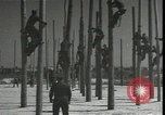 Image of Signal Corps linemen Georgia United States USA, 1951, second 12 stock footage video 65675074381
