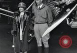 Image of Charles Lindbergh and his mother Long Island New York USA, 1927, second 9 stock footage video 65675074467