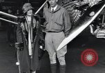 Image of Charles Lindbergh and his mother Long Island New York USA, 1927, second 10 stock footage video 65675074467