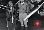 Image of Charles Lindbergh and his mother Long Island New York USA, 1927, second 11 stock footage video 65675074467