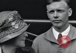 Image of Charles Lindbergh and his mother Long Island New York USA, 1927, second 12 stock footage video 65675074467