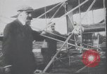 Image of Theodore Roosevelt flying with Wright pilot Archibald Hoxsey United States USA, 1910, second 2 stock footage video 65675074471