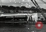 Image of wrecked USS Arizona BB-48 Pearl Harbor Hawaii USA, 1941, second 3 stock footage video 65675074705