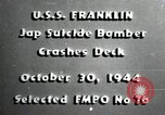 Image of USS Franklin CV-13 kamikaze attack Pacific Ocean, 1944, second 1 stock footage video 65675074706