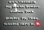 Image of USS Franklin CV-13 kamikaze attack Pacific Ocean, 1944, second 2 stock footage video 65675074706