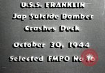 Image of USS Franklin CV-13 kamikaze attack Pacific Ocean, 1944, second 6 stock footage video 65675074706