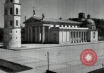 Image of reconstruction of buildings Lithuania Soviet Union, 1947, second 11 stock footage video 65675074786