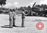 Image of 44th Fighter Squadron Award Ceremony Guadalcanal Solomon Islands, 1943, second 11 stock footage video 65675074953