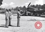 Image of 44th Fighter Squadron Award Ceremony Guadalcanal Solomon Islands, 1943, second 12 stock footage video 65675074953
