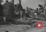 Image of bombed-out buildings Caen France, 1944, second 12 stock footage video 65675075099