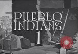 Image of Pueblo village of Native American Indians United States USA, 1920, second 1 stock footage video 65675075278