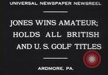 Image of Bobby Jones Ardmore Pennsylvania USA, 1930, second 2 stock footage video 65675075488