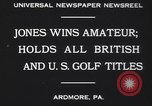 Image of Bobby Jones Ardmore Pennsylvania USA, 1930, second 3 stock footage video 65675075488