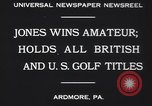 Image of Bobby Jones Ardmore Pennsylvania USA, 1930, second 4 stock footage video 65675075488
