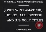 Image of Bobby Jones Ardmore Pennsylvania USA, 1930, second 5 stock footage video 65675075488