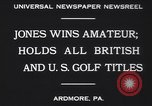Image of Bobby Jones Ardmore Pennsylvania USA, 1930, second 9 stock footage video 65675075488
