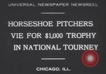 Image of horseshoe tossers Chicago Illinois USA, 1930, second 1 stock footage video 65675075490