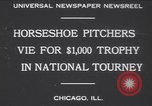 Image of horseshoe tossers Chicago Illinois USA, 1930, second 2 stock footage video 65675075490