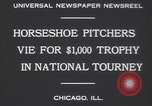 Image of horseshoe tossers Chicago Illinois USA, 1930, second 4 stock footage video 65675075490