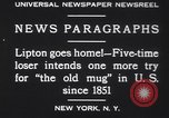 Image of Sir Thomas Lipton New York United States USA, 1930, second 3 stock footage video 65675075491