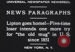 Image of Sir Thomas Lipton New York United States USA, 1930, second 7 stock footage video 65675075491