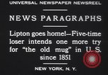 Image of Sir Thomas Lipton New York United States USA, 1930, second 9 stock footage video 65675075491