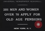 Image of old men and women New York United States USA, 1930, second 1 stock footage video 65675075496