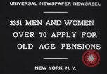 Image of old men and women New York United States USA, 1930, second 4 stock footage video 65675075496